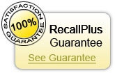 We are so sure that RecallPlus can improve your study technique, that we are willing to offer you a guarantee that if the study methods that RecallPlus offers are used, you will improve your study for exams OR your money back!
